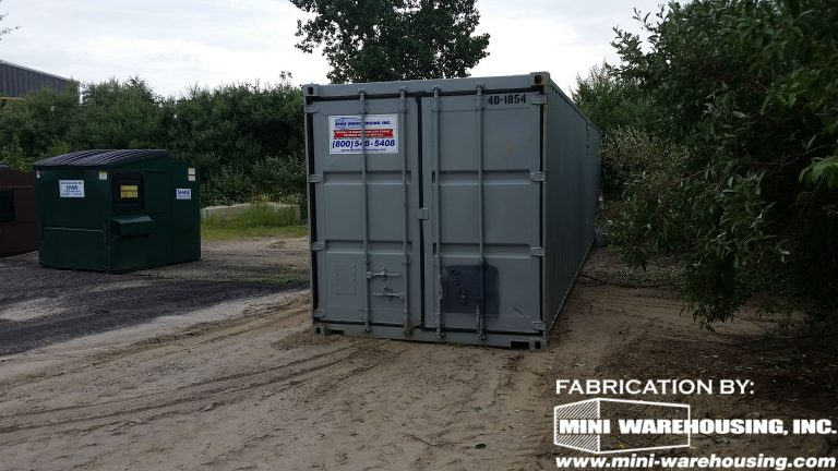 front view of a storage container at a