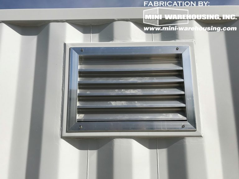 storage container louver vent