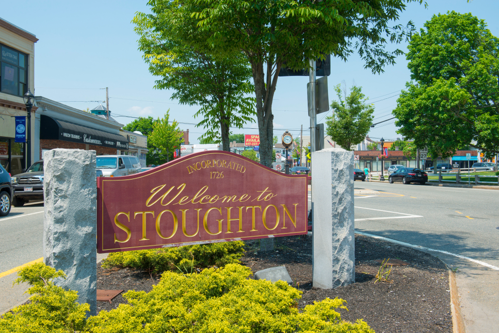 Welcome to Stoughton, MA Sign